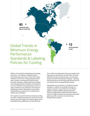 Page 20 of Global Trends in Energy Efficiency Policy for Cooling