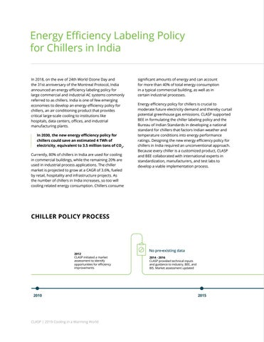 Page 22 of Energy Efficiency Labeling Policy for Chillers in India