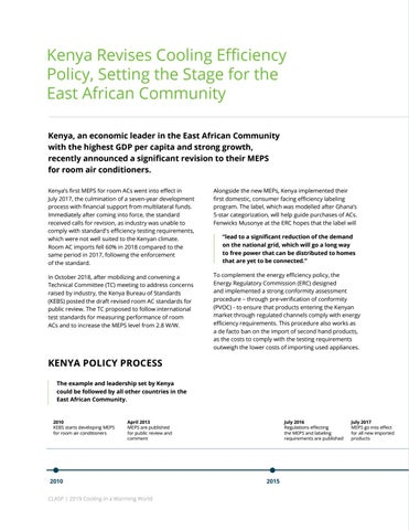 Page 24 of Kenya Revises Cooling Efficiency Policy, Setting the Stage for the East African Community