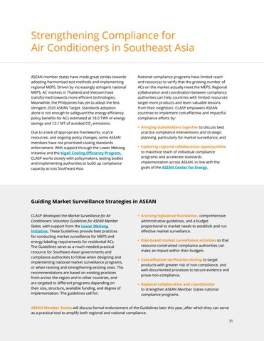 Page 31 of Strengthening Compliance for Air Conditioners in Southeast Asia