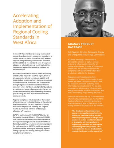 Page 33 of Accelerating Adoption and Implementation of Regional Cooling Standards in West Africa