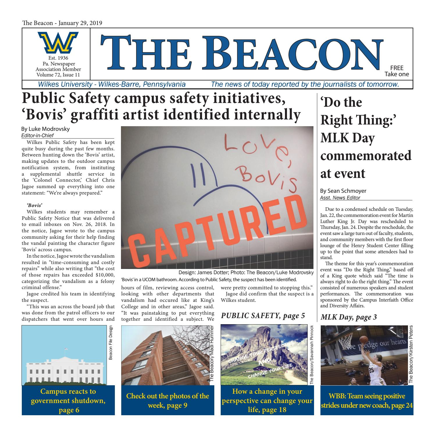 The Beacon - Jan  29, 2019 (Vol  72, Issue 11) by Wilkes
