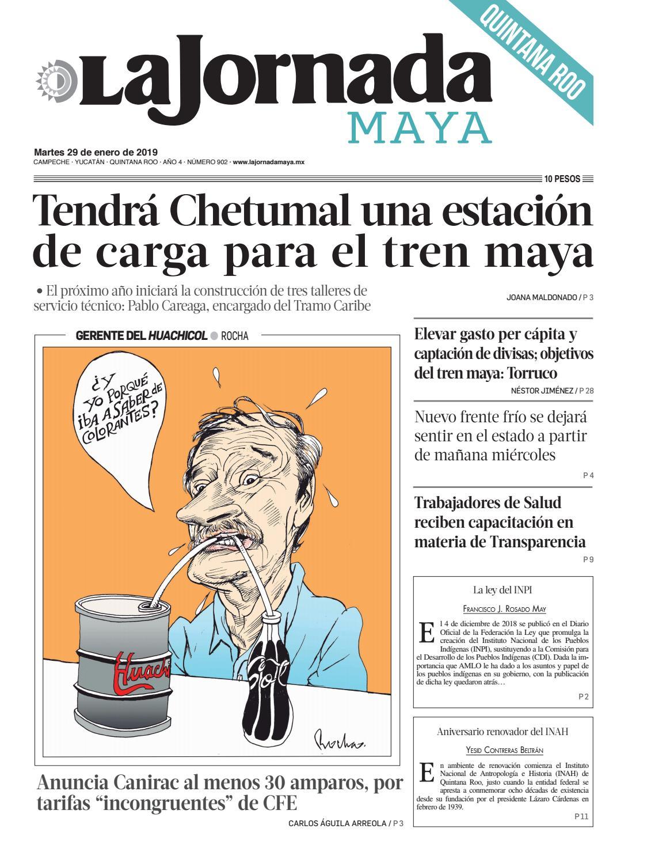 La Jornada Maya · martes 29 de enero de 2019 by La Jornada Maya - issuu 9bf20d0e3fdbb