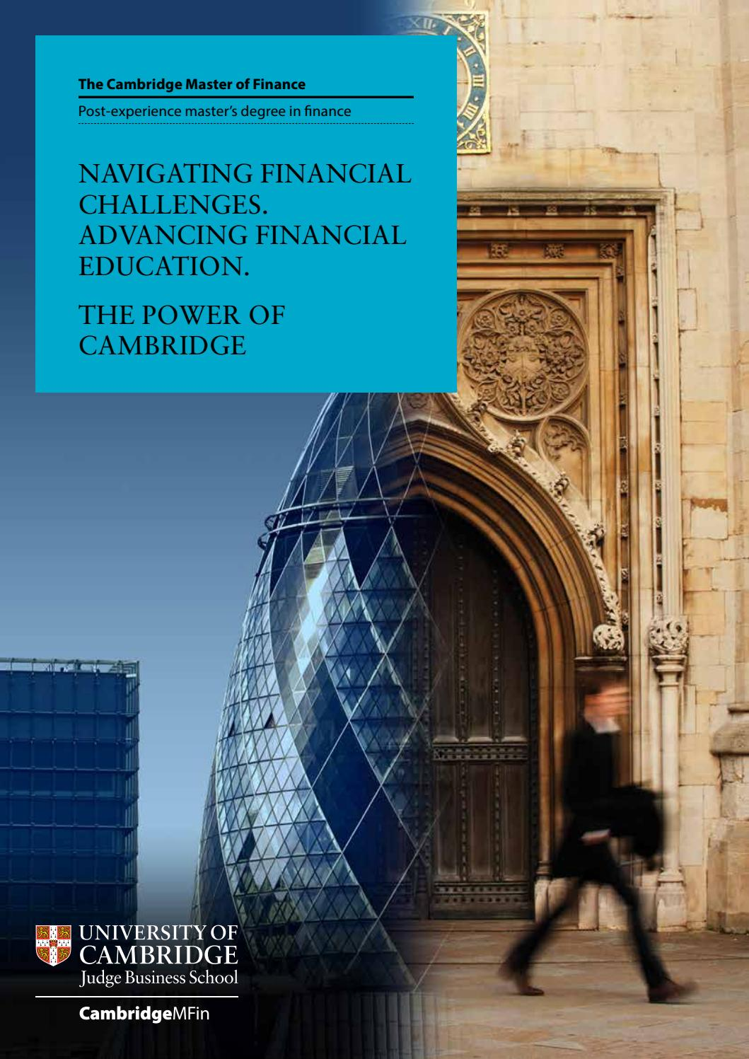 management degree judging a book by its cover the top the design book The Cambridge Master of Finance Brochure by Cambridge Judge Business School  - issuu