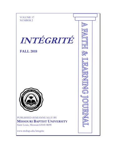 Intégrité | Fall 2018 by Missouri Baptist University - issuu