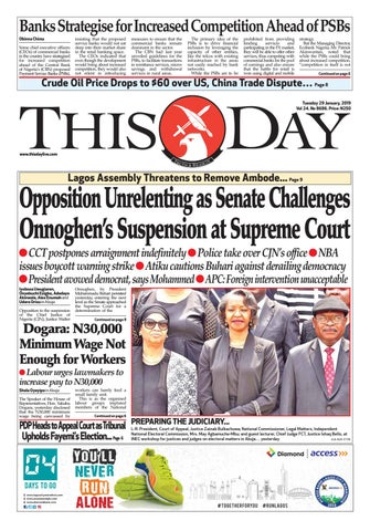 new styles b0ef3 99378 THURSDAY 8TH NOVEMBER 2018 by THISDAY Newspapers Ltd - issuu