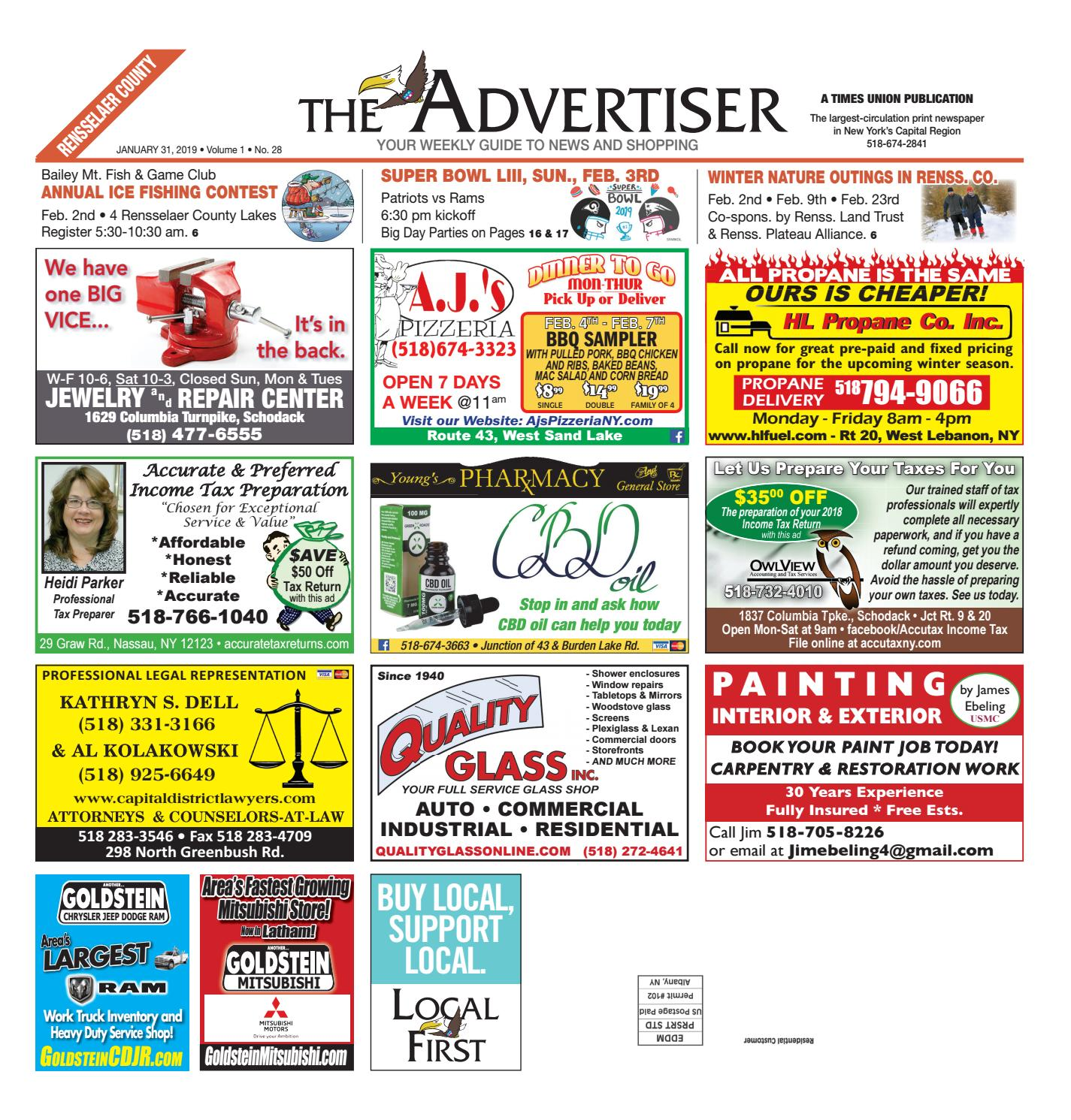 Local First The Advertiser 013119 by Capital Region Weekly Newspapers -  issuu