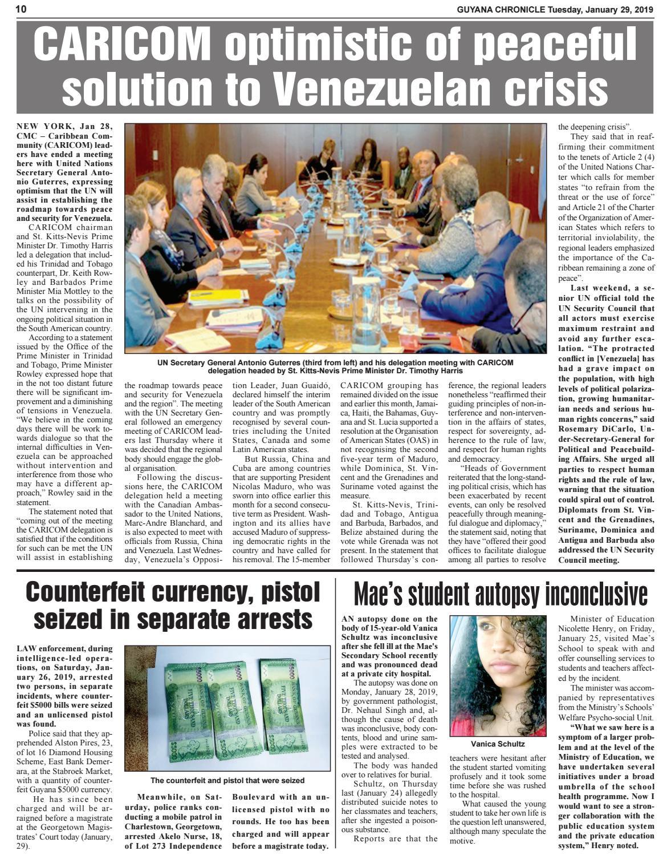 Guyana Chronicle E-paper 01-29-2019 by Guyana Chronicle E