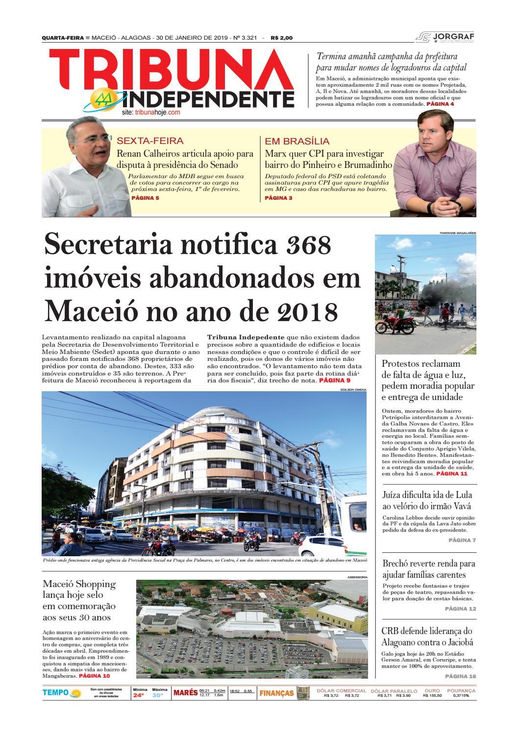 83bd72490 Edição número 3321 - 30 de janeiro de 2019 by Tribuna Hoje - issuu