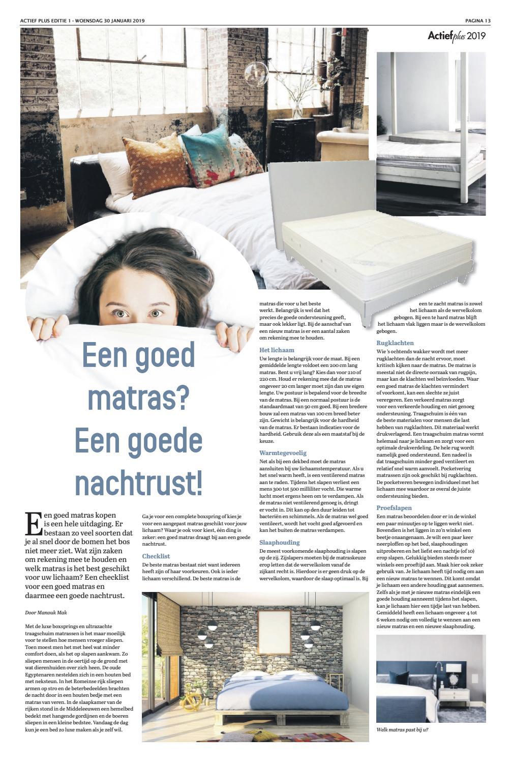 Welke Matras Is De Beste.Actief Plus Ed 1 30 01 2019 By Uitgeverij Em De Jong Issuu