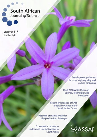 South African Journal of Science Volume 115 Issue 1/2 by South