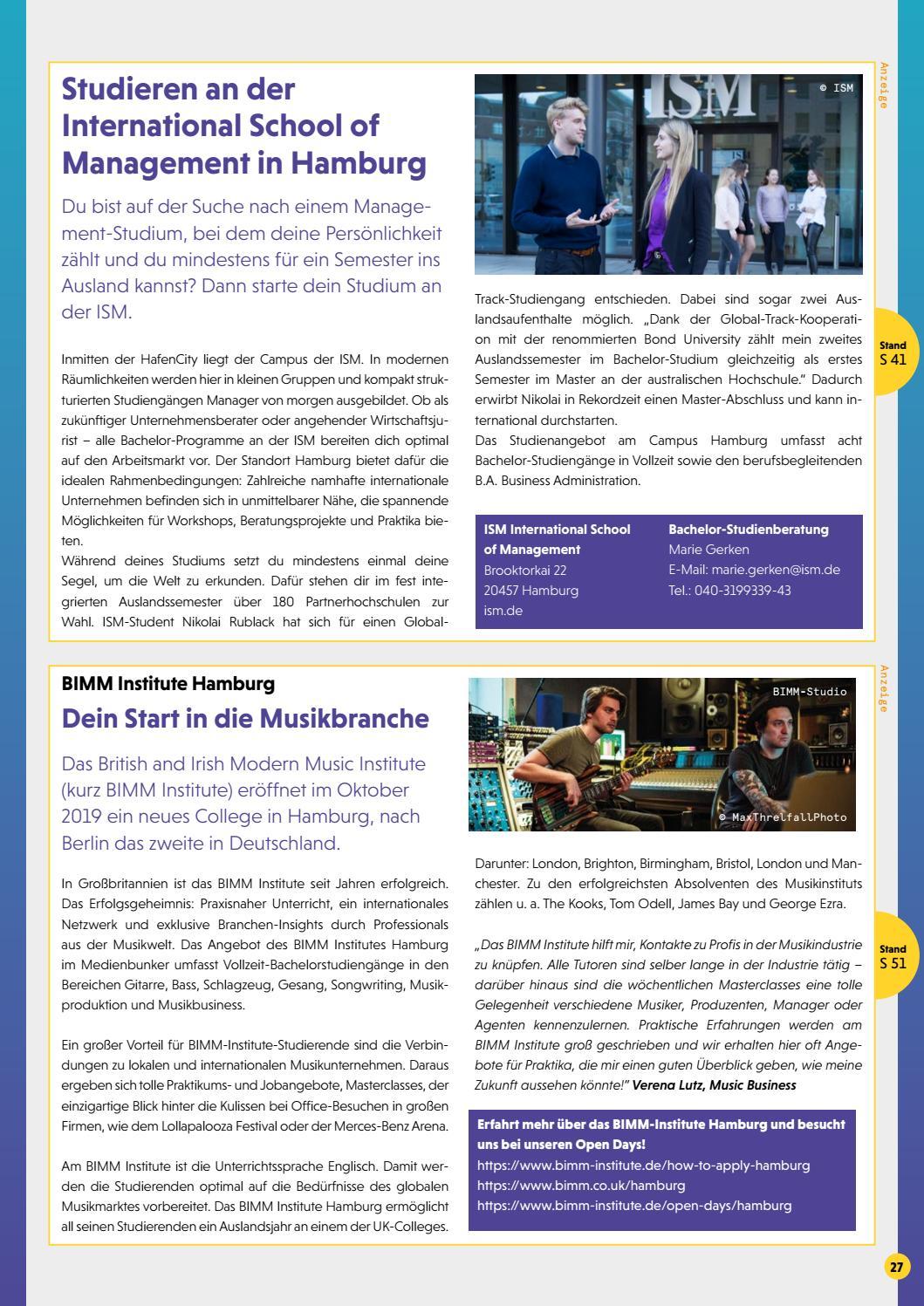 Einstieg Magazin Regionalausgabe Hamburg 2019 By Einstieg