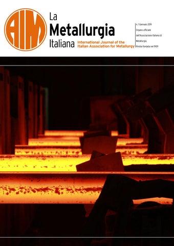 La Metallurgia Italiana   Gennaio 2019 by aimnet3   issuu