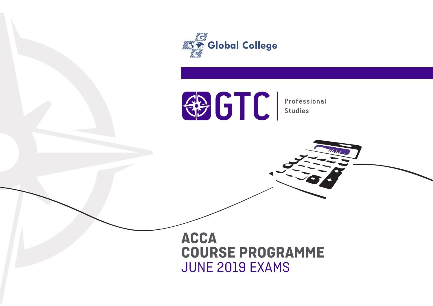 GTC ACCA Course Programme June 2019 Exams by GTC