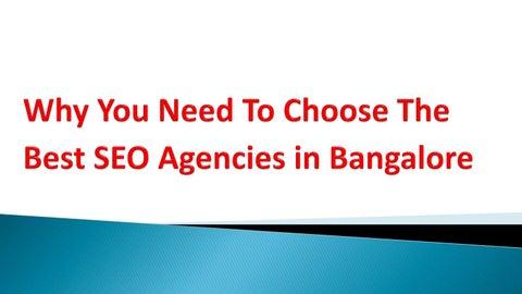 Best way to choose seo agencies in bangalore by Digital