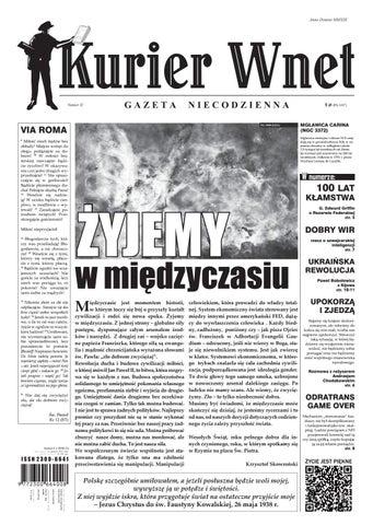 Kurier Wnet Gazeta Niecodzienna Nr 3 2013 By Kurierwnet Issuu