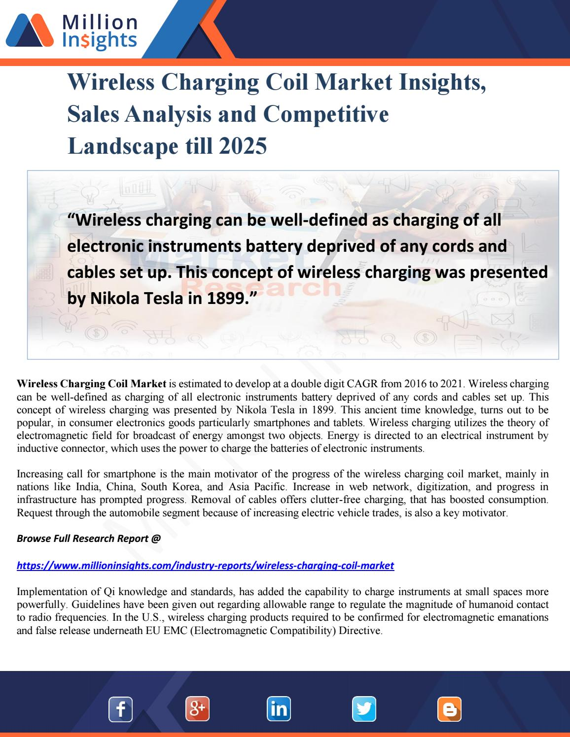 Wireless Charging Coil Market Insights, Sales Analysis and
