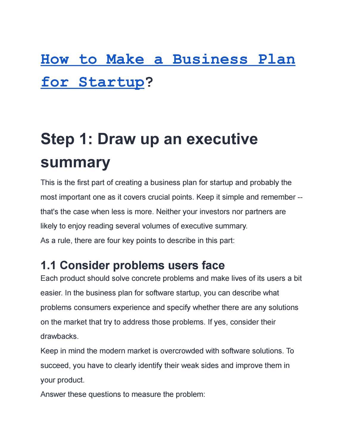 Business plan software start up custom university assignment samples