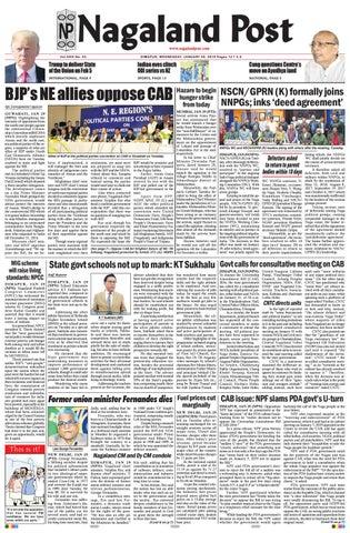 January 30, 2019 by Nagaland Post - issuu