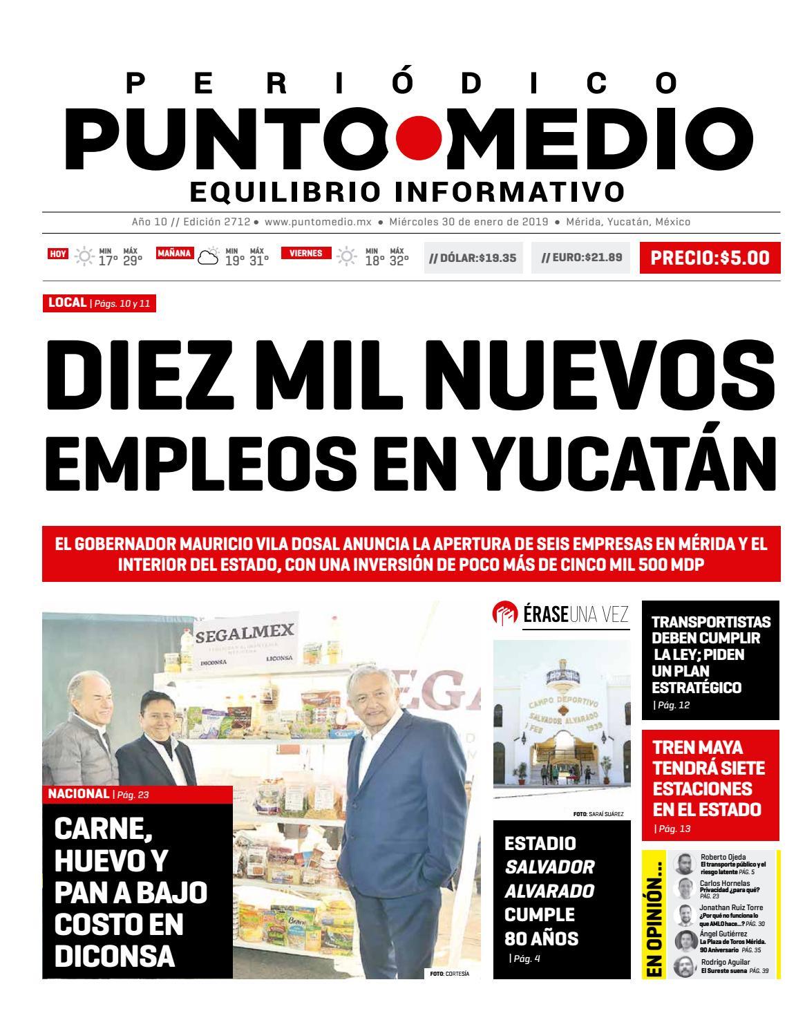44c0c9cd2 Edición impresa del miércoles 30 de enero de 2019 by Punto Medio - issuu