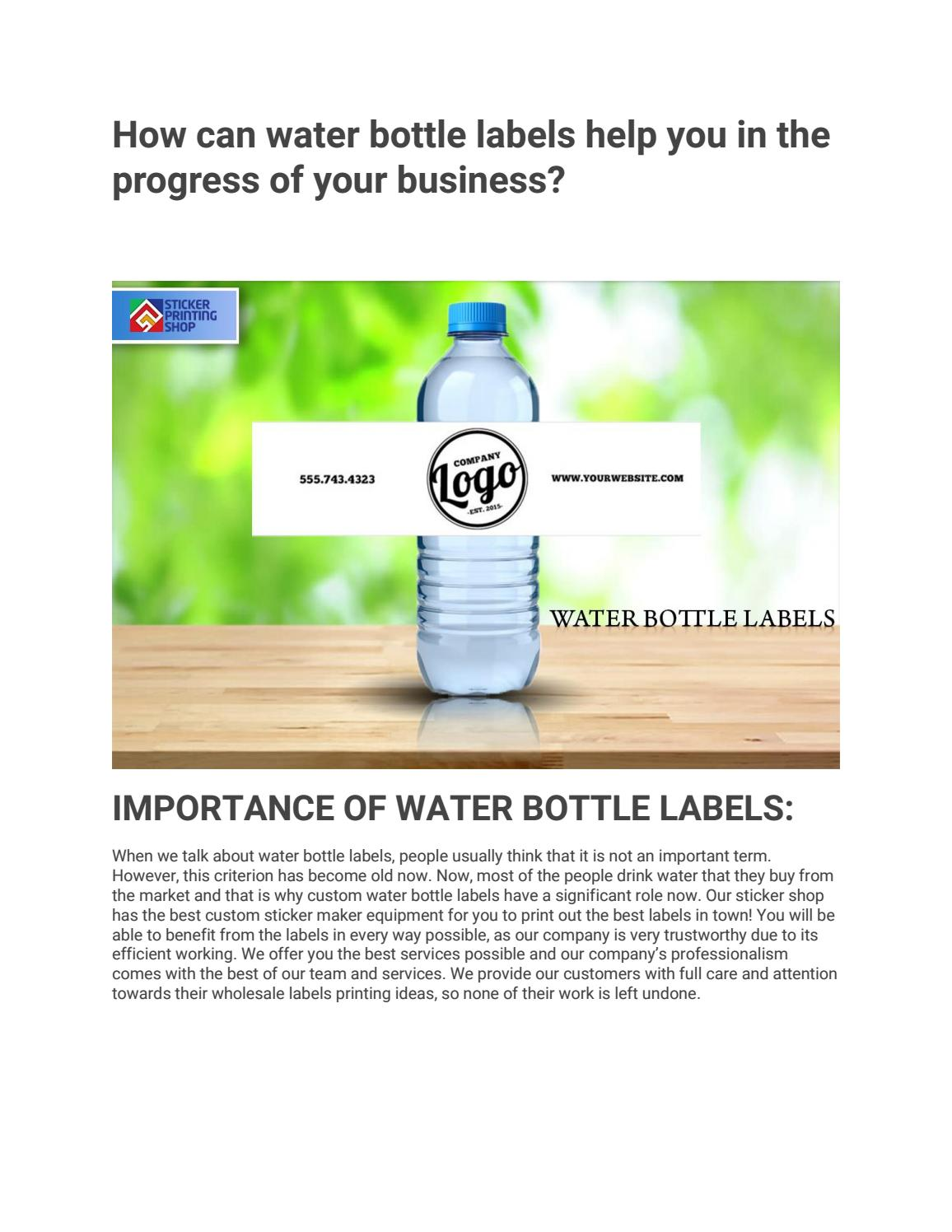 How can water bottle labels help you in the progress of your