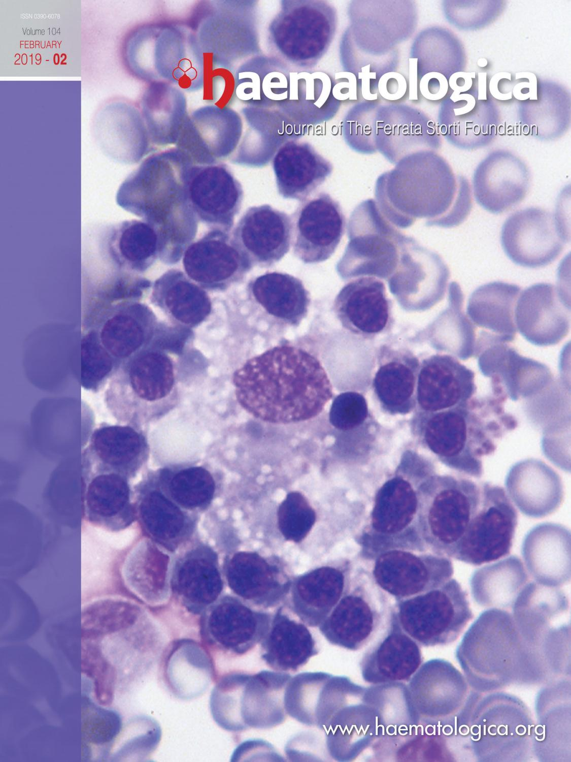 Haematologica, Volume 104, Issue 2 by Haematologica - issuu