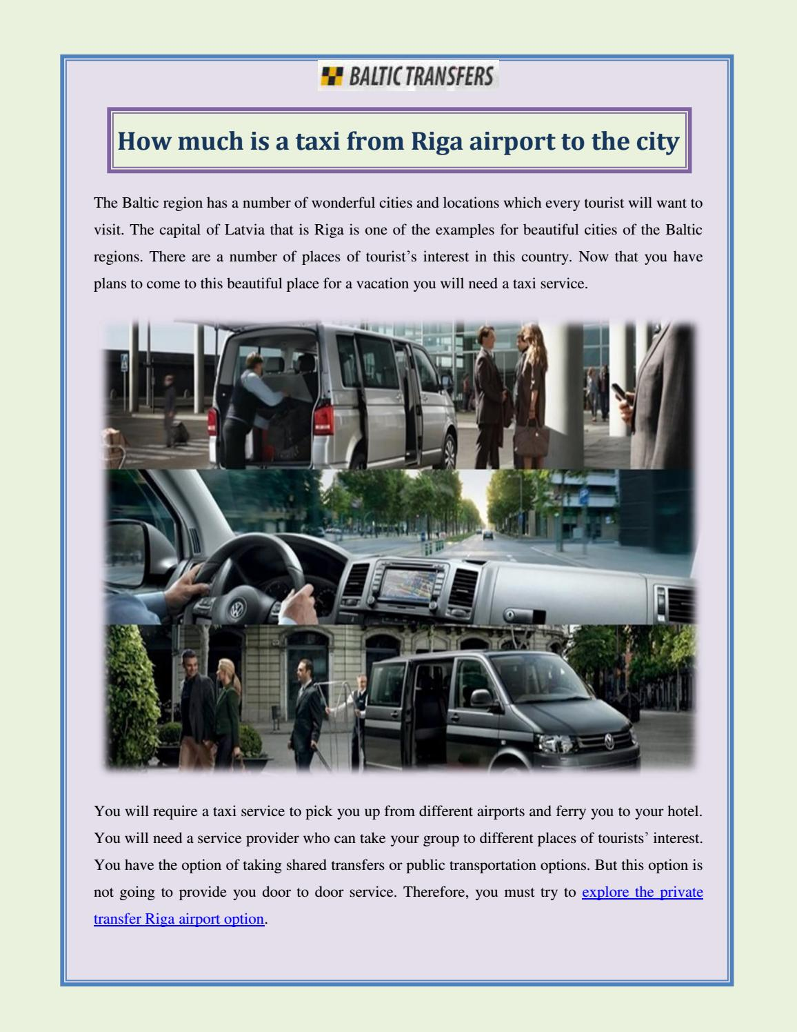 How much is a taxi from Riga airport to the city by Baltic Transfers