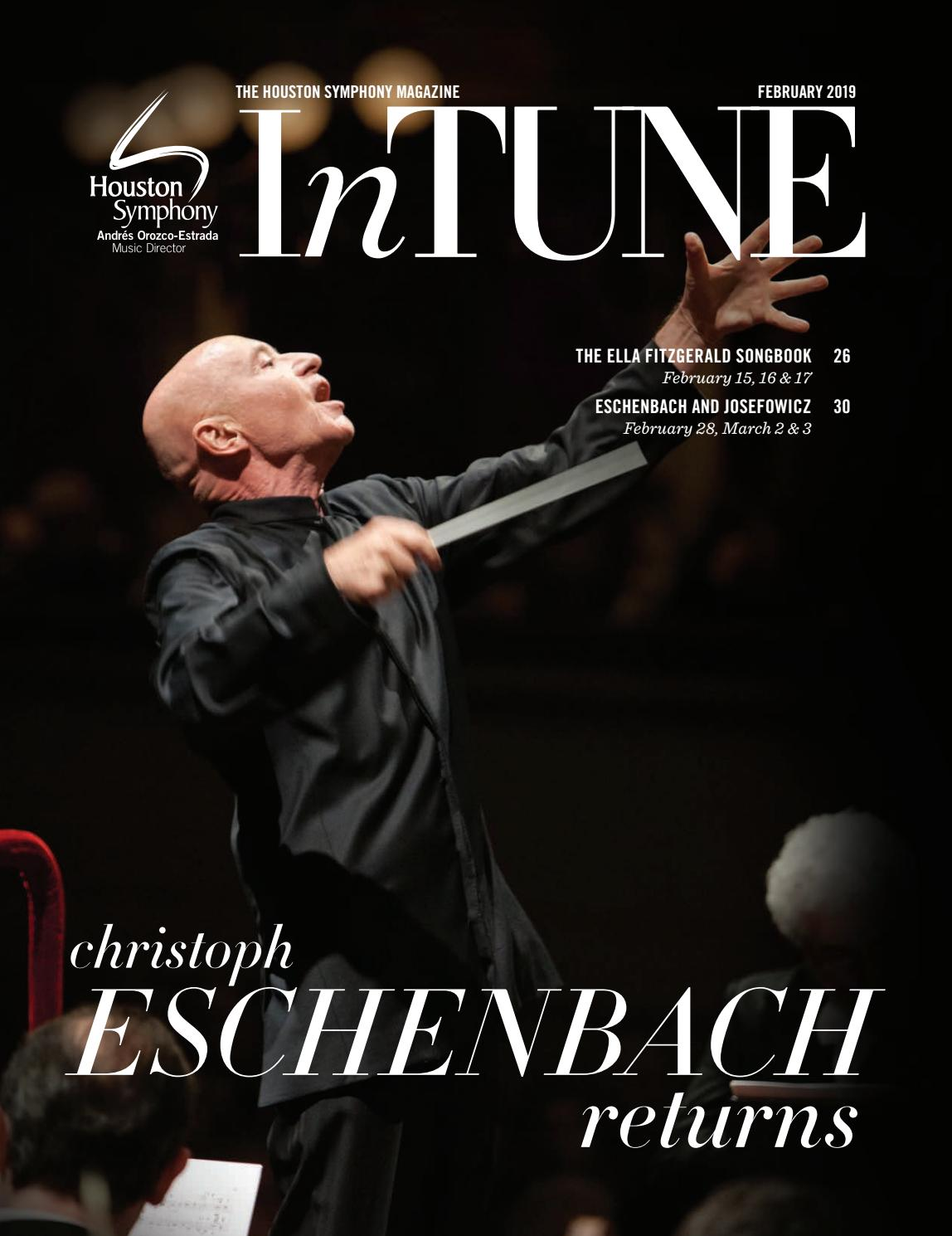 InTune — The Houston Symphony Magazine — February 2019 by