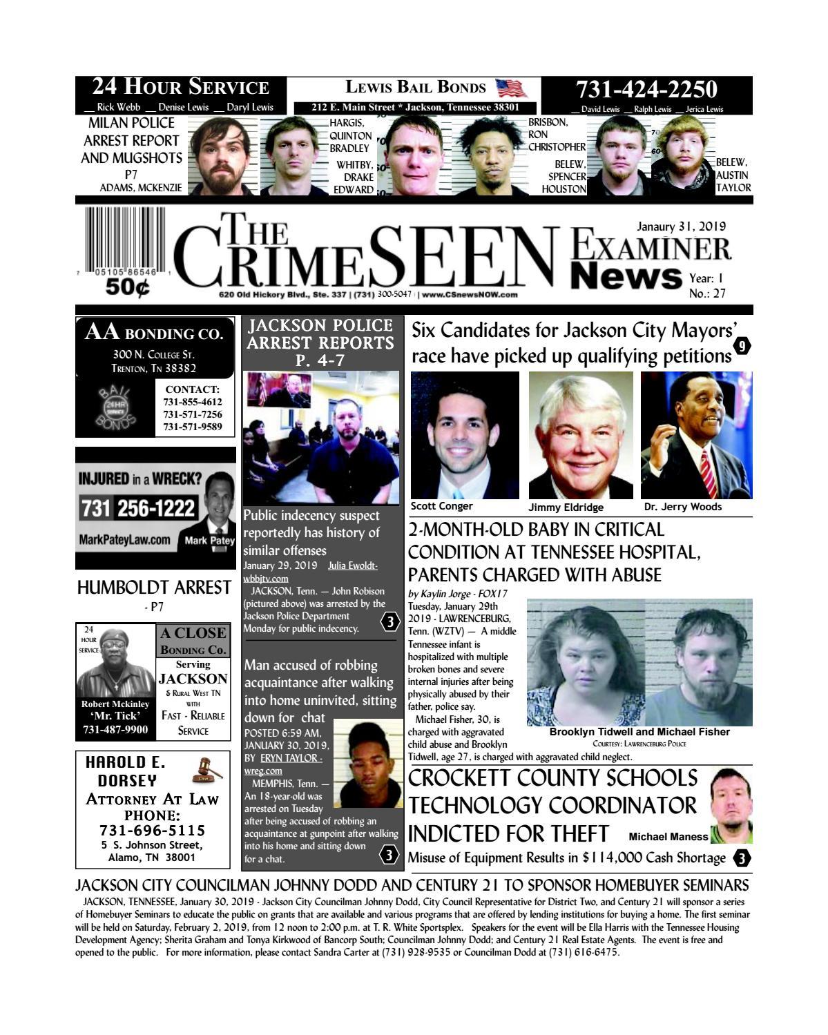 The CrimeSEEN Examiner News January 31, 2019 by CrimeSEEN