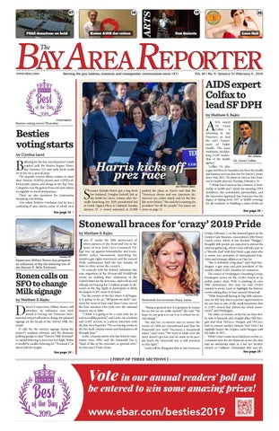 January 31, 2019 Edition of the Bay Area Reporter by Bay