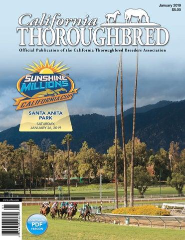California Thoroughbred Magazine January 2019 by CTBA - issuu