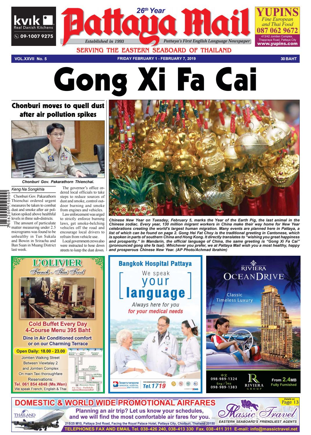 Pattaya Mail - FRIDAY FEBRUARY 1 - FEBRUARY 7, 2019 (Vol