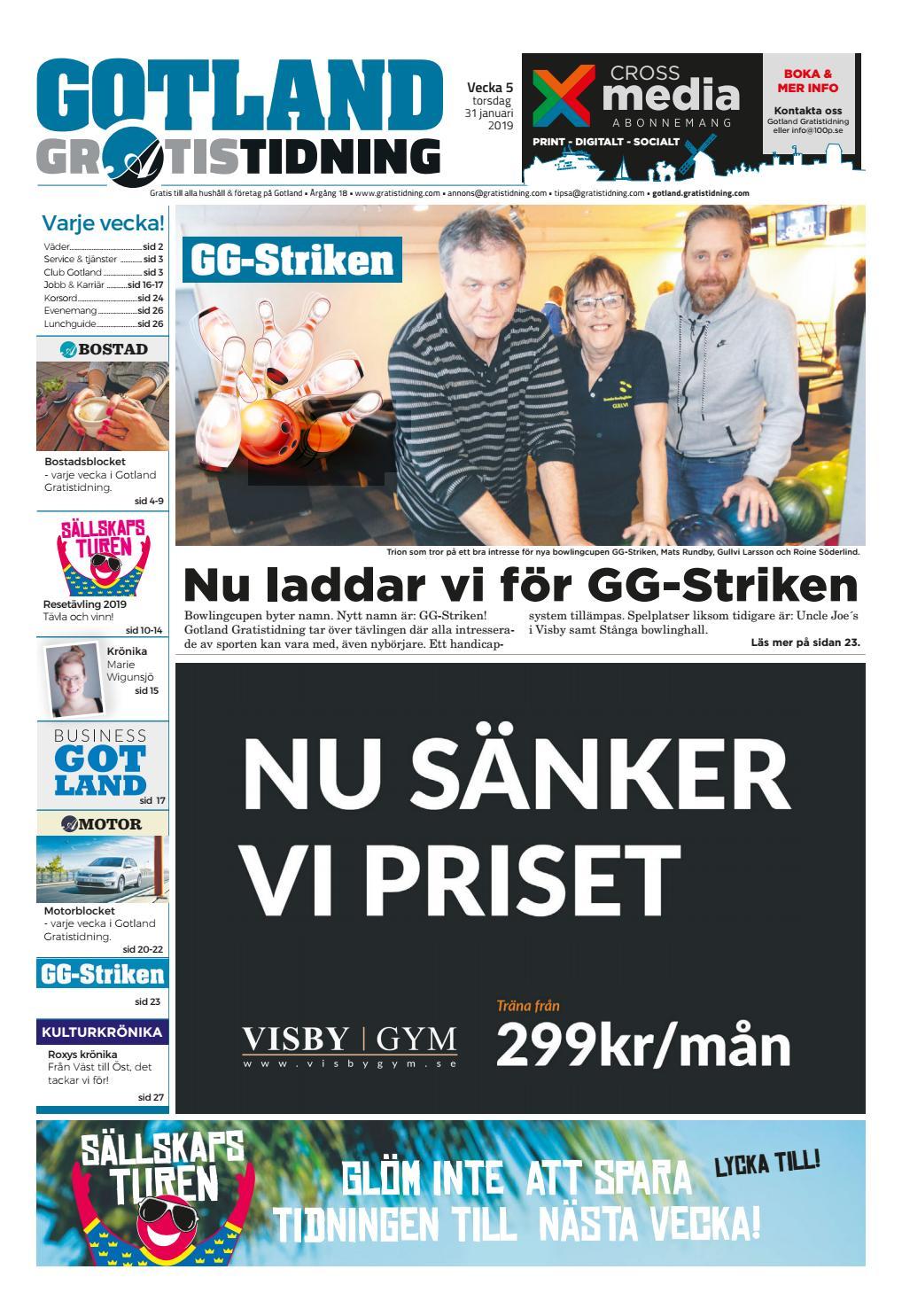 06e56722c374 Gotland Gratistidning vecka 05, 2019 by Svenska Civildatalogerna AB - issuu