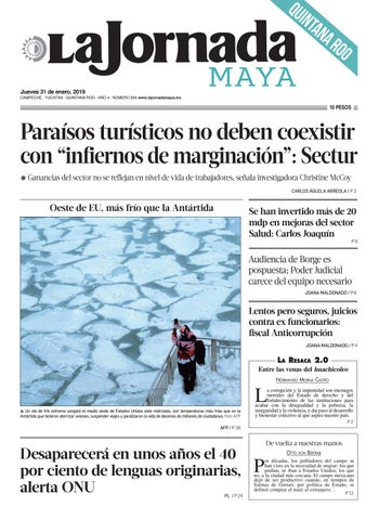 630f617213156 La Jornada Maya · jueves 31 de enero de 2019 by La Jornada Maya - issuu