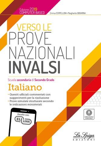 Invalsi Italiano Secondaria Ii Grado 2019 By Eli Publishing Issuu