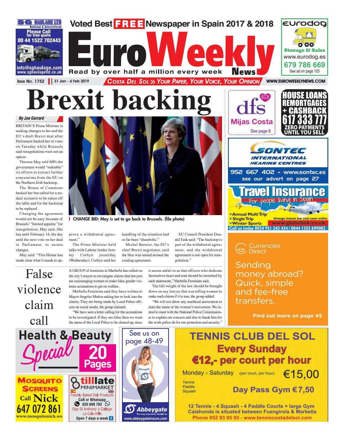 5d7bad3d2998 Euro Weekly News - Costa del Sol 31 Jan - 6 Feb 2019 Issue 1752 by Euro  Weekly News Media S.A. - issuu