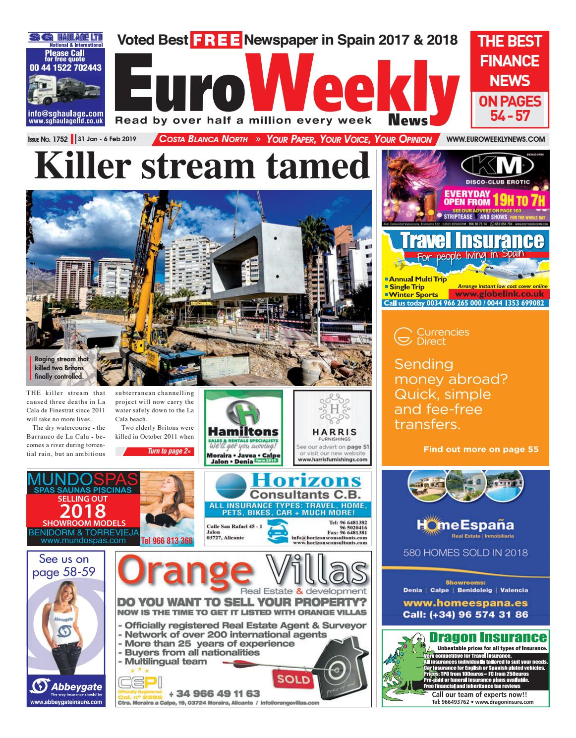 72258403e5c Euro Weekly News - Costa Blanca North 31 Jan - 6 Feb 2019 Issue 1752 ...
