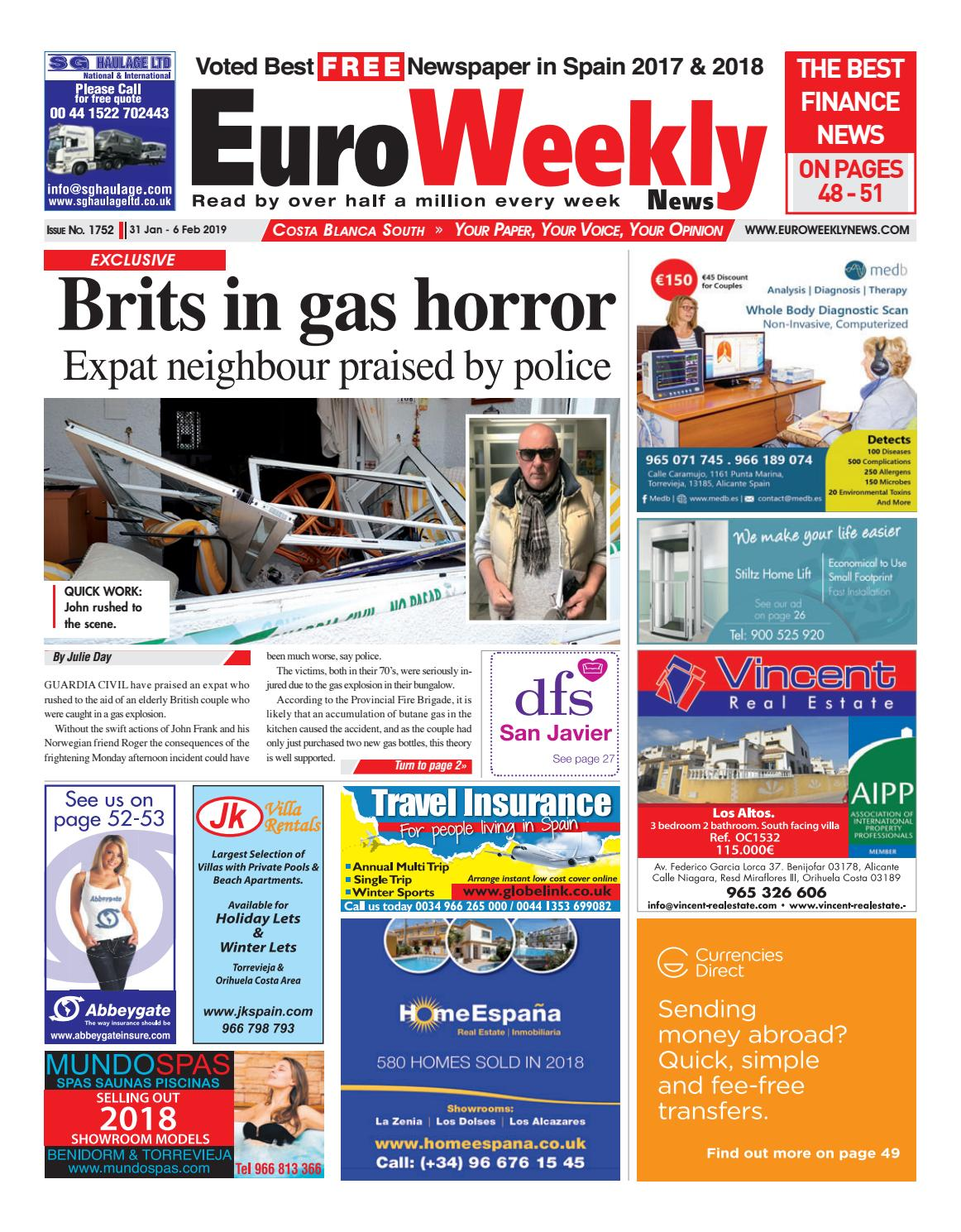 715b840872 Euro Weekly News - Costa Blanca South 31 Jan - 6 Feb 2019 Issue 1752 by  Euro Weekly News Media S.A. - issuu