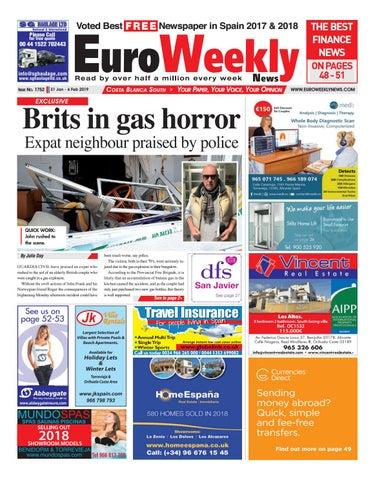 d632628e8 Euro Weekly News - Costa Blanca South 31 Jan - 6 Feb 2019 Issue 1752 ...