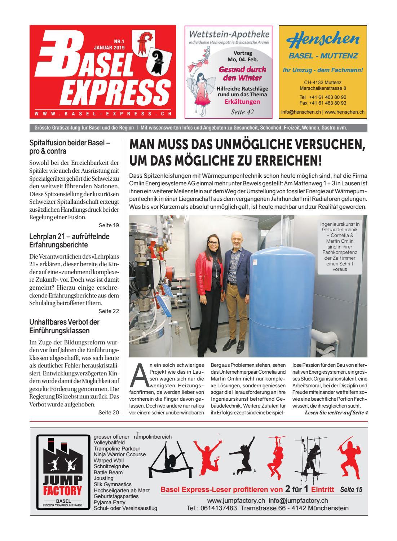 Basel Express Ausgabe 01 19 By Tradexpress Issuu