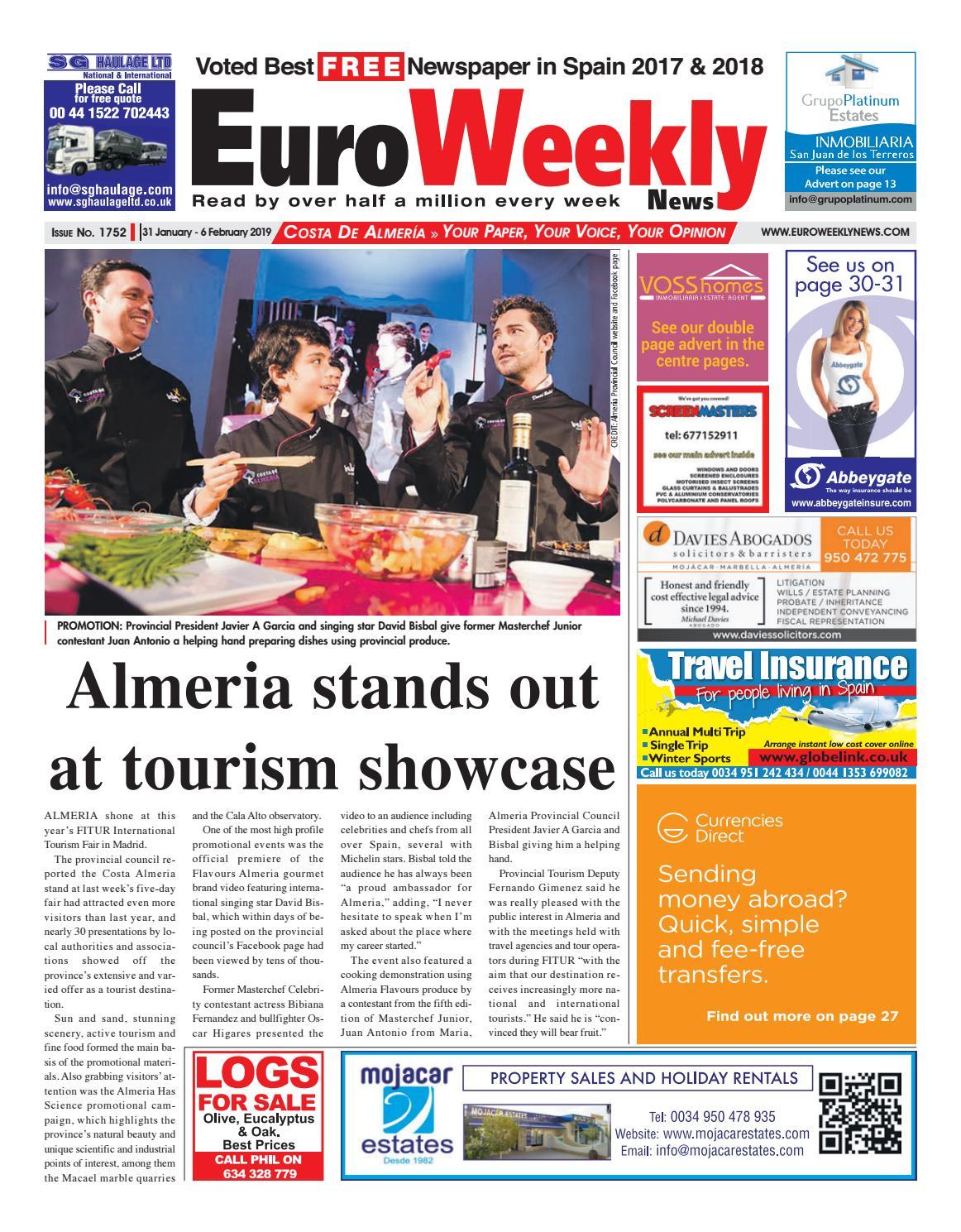 Euro Weekly News - Costa de Almeria 31 Jan - 6 Feb 2019