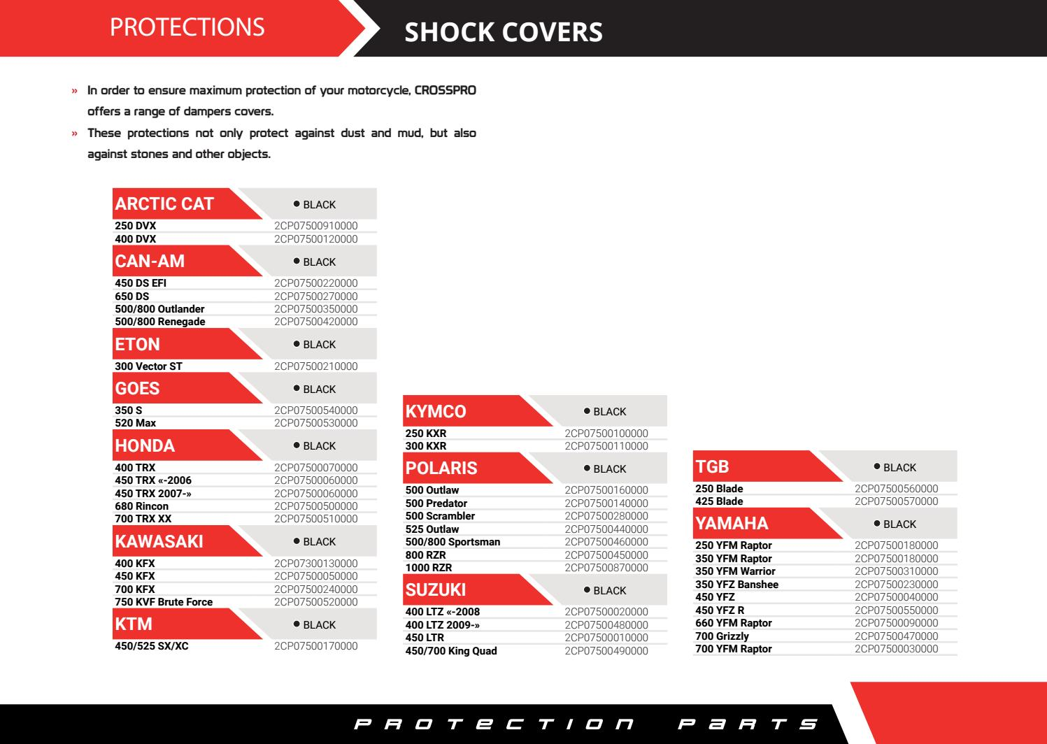 Crosspro - Quad Shock Covers by Motor Race - issuu