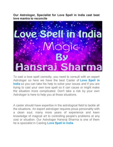 Expert Astrologer for Love Spells in India by