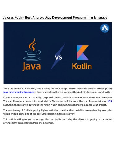 Java vs Kotlin- Best Android App Development Programming language by