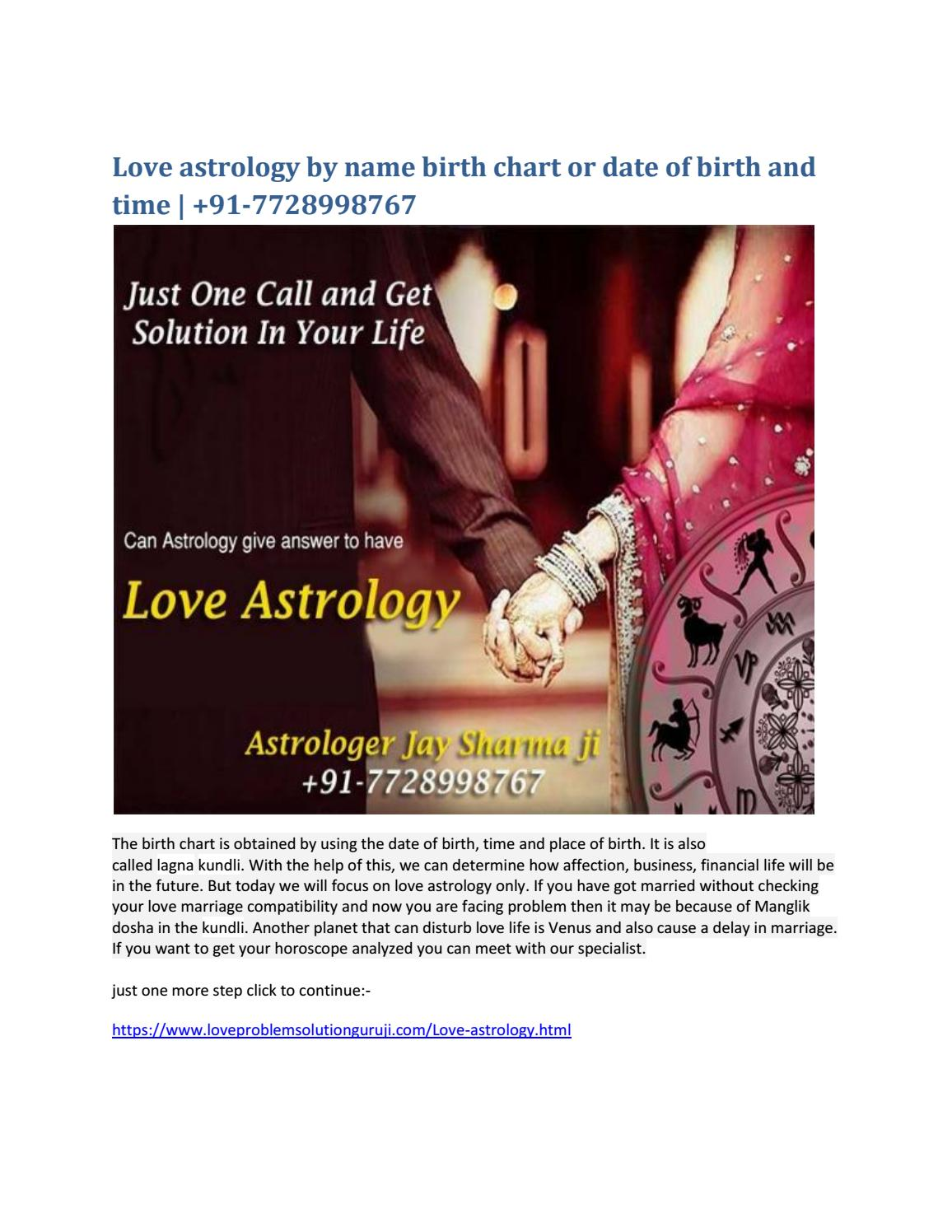 Love astrology by name birth chart or date of birth and time