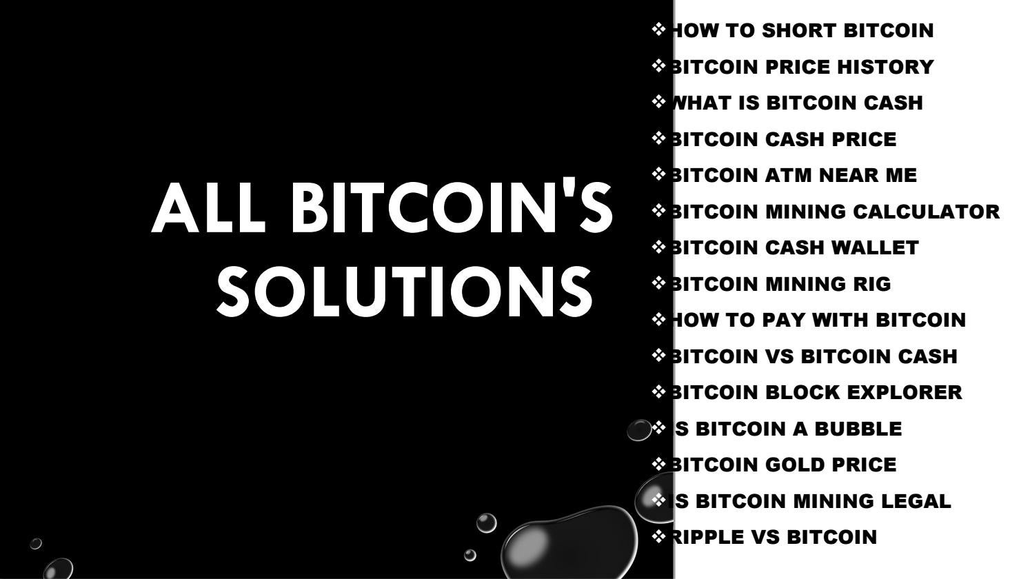 All Bitcoin's solutions by Holly Cox - issuu