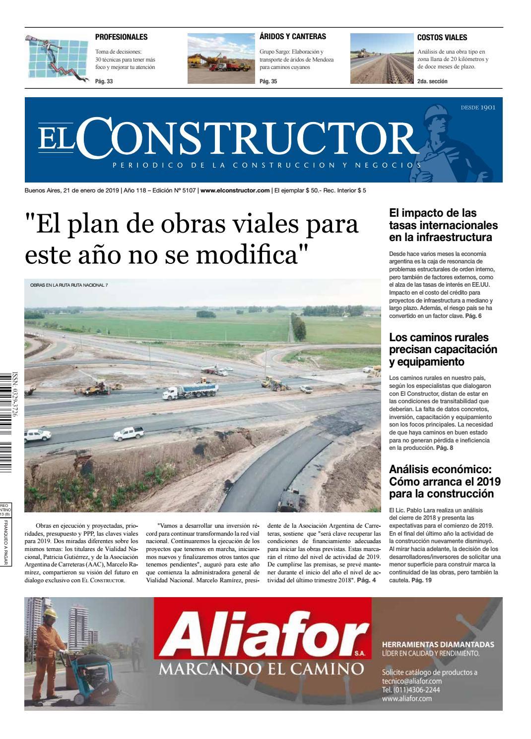9dd3c6a7d160 El Constructor 21 1 2019 - N° 5107 Año 118 by ELCO Editores - issuu