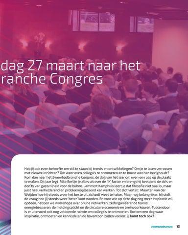 Page 13 of ZwembadBranche Congres