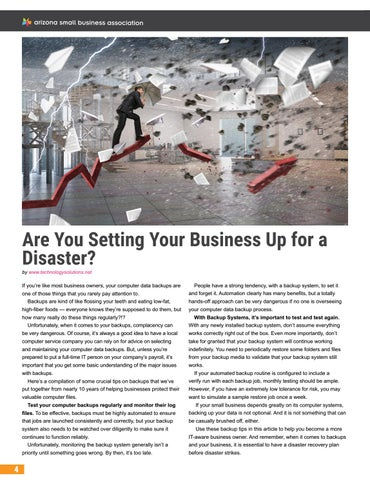 Page 52 of Are You Setting Your Business Up for a Disaster?