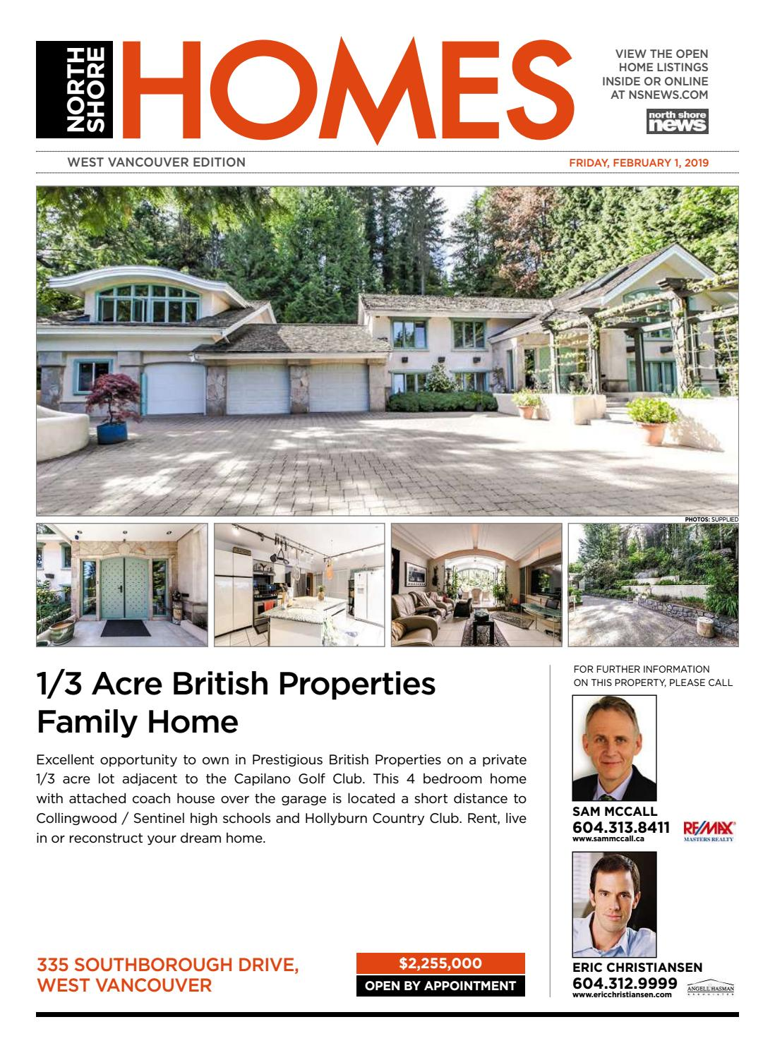 f9a6968a42 West Vancouver Homes Real Estate February 1 2019 by NSN Features - issuu